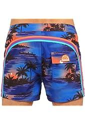 """Sundek 14"""" Classic Board Short Hawaiian Panorama"""