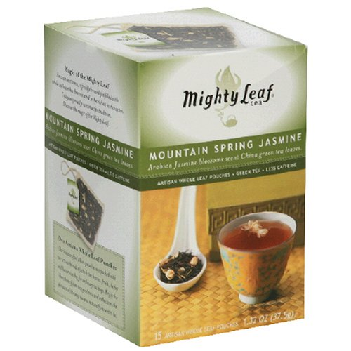 Buy Mighty Leaf Tea, Jasmine, Tea Bags, 15-Count Box, Biodegradable Whole Leaf Pouches (Pack of 3) (Mighty Leaf, Health & Personal Care, Products, Food & Snacks, Beverages, Tea, Green Teas, Tea Bags)