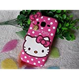 Octer Cover's For Samsung Galaxy S Duos S7562 Back Cover Hello Kitty Silicone With Pendant (Pink)