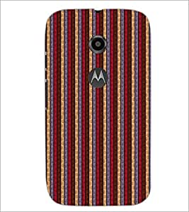 PrintDhaba Pattern D-6080 Back Case Cover for MOTOROLA MOTO E2 (Multi-Coloured)