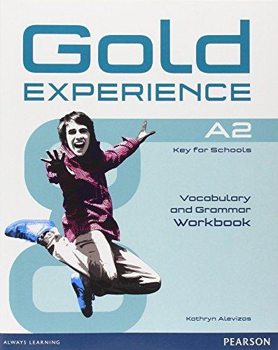 Gold experience  A2  Grammar and vocabulary - Libro de ejercicios con la expansión en línea.  ( para colegios )
