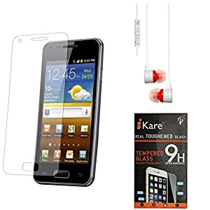 iKare Pack of 6 Premium Shatter Proof Tempered Glass Ultra Clear Screen Protector for Motorola Moto G (3rd gen) + White Stereo Earphone with Mic and Volume Control