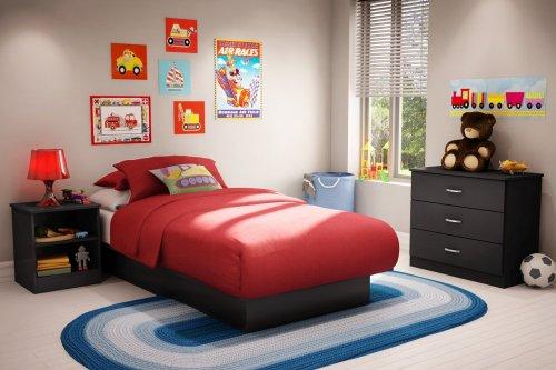 Kids Bedroom Furniture Set in Solid Black - South Shore Furniture - 3070-BSET-12