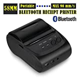 Anse Bluetooth 4.0 Direct Thermal Printer - USB Interface - Monochrome - Receipt Print-Bluetooth Wireless 58mm Thermal Dot Receipt Printer Android Mobile PC Compatible