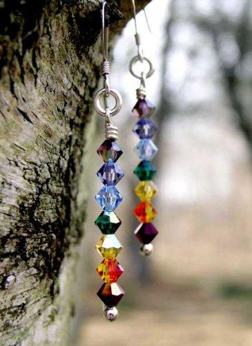 Damali - E03 - Chakra Earrings: Beaded Earrings