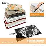 Packmate 2pc Large Flat Set - Black leaf design