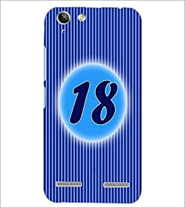 PrintDhaba Numerology Number 18 D-2574 Back Case Cover for LENOVO VIBE K5 PLUS (Multi-Coloured)