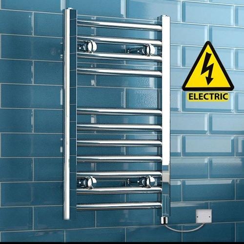 650 x 400 mm Electric Straight Towel Rail Radiator Chrome Heated Ladder