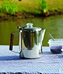 Texsport 9 Cup Stainless Steel Percolator Coffee Maker for Outdoor Camping from Texsport