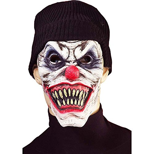 Evil Clown Mask with Beanie