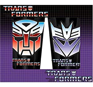 Transformers Decepticons and Autobots Pub Glasses 2-Pack