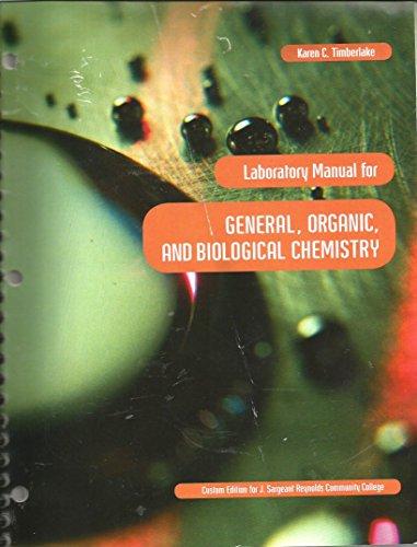 Lab Manual for J.Sargeant Reynolds Chemistry 101