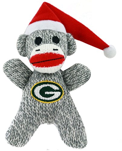 Green Bay Packers NFL Football 2013 Sock Monkey Stuffed Christmas Ornament at 'Sock Monkeys'