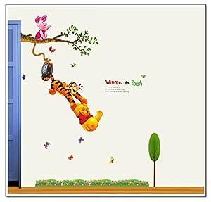 Clest F&H Winnie The Pooh 130CM*110CM Pegatina Adhesivo vinilo decorativo pared Letras Removible habitación del bebé decoración del hogar de Clest F&H - BebeHogar.com