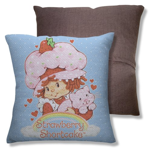 Wicked Tees Strawberry Shortcake Rainbow Throw Pillow front-875247