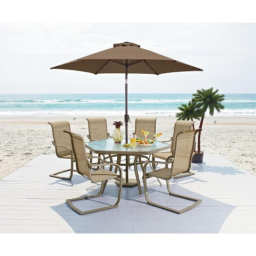 Patio Furniture Dining Set. This 7 Piece Long