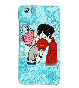 Fuson Love Couple Back Case Cover for MICROMAX CANVAS FIRE 4 A107 - D4001