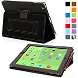 Snugg™ iPad 3 & 4 Case - Smart Cover with Flip Stand & Lifetime Guarantee (Black Leather) for Apple iPad 3 and 4