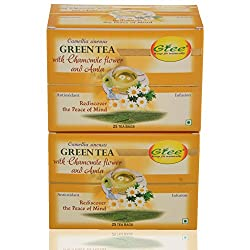 GTEE Green Tea Bags-Chamomile (25 Tea bags X 2PACKS)