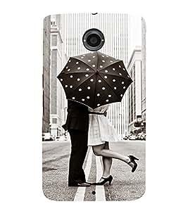 EPICCASE Love under umbrella Mobile Back Case Cover For LG Nexus 6 (Designer Case)