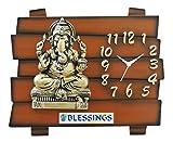 Feelings Café Club Antique Ganesh Wall Clock