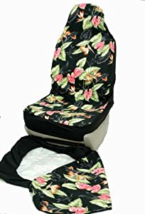 hawaiian car seat covers black bird of. Black Bedroom Furniture Sets. Home Design Ideas