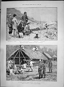 Antique Print of 1890 Lushai Goorkhas Swaziland Smit Schreiner Krause Winton Lamington Sydney