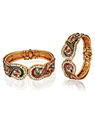 Traditional Beautiful Meenakari Mayur Kada (Set Of 2) For Women By Shining Diva