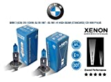 Pair of H1 12V 55w Super White Xenon HID BMW 3 (E30) 318 I 87-91 HIGH BEAM (STD) P14,5s
