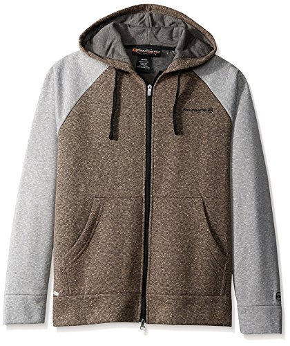 Free Country Men's Snow Fleece Hoodie, Deep Charcoal, S