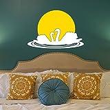 Chipakk Yellow White Swan Pair -HD Wall Decal