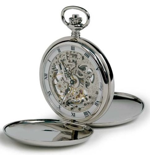Rapport of London Chrome Hunting Case Pocket Watch with Skeletonized Movement