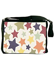 Snoogg Colorful Stars 2608 Laptop Messenger Bag