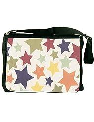 Snoogg Colorful Stars 2608 Laptop Messenger Bag