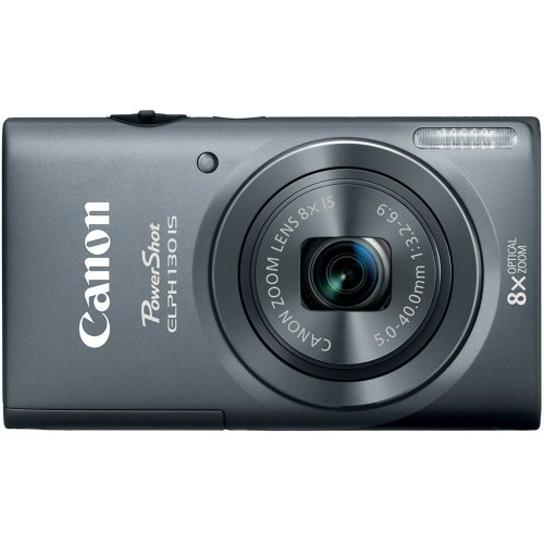 51Vx2k73k7L Canon PowerShot ELPH 130 IS 16.0 MP Digital Camera with 8x Optical Zoom 28mm Wide Angle Lens and 720p HD Video Recording (Gray)