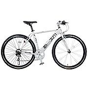 SHINEWOOD(シャインウッド) 700C クロスバイク 自転車 シマノ7段変速 鍵・ライト付き 前輪クイックリリース (プレミアムホワイト)