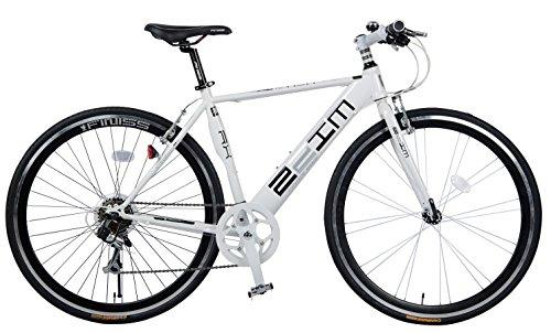 SHINEWOOD(シャインウッド) 700C クロスバイク 自転車 シマノ7段変速(MS) (ホワイト&ブラック)