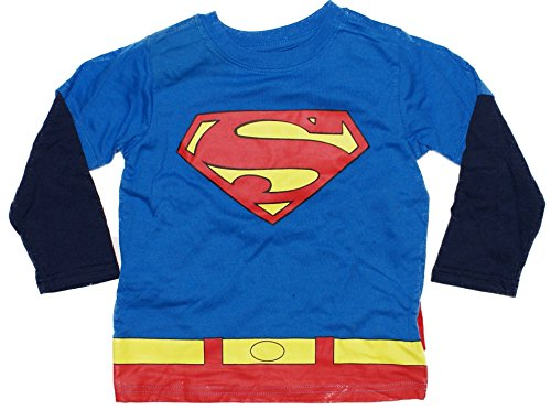 Superman Man Of Steel Toddler Costume Longsleeve Cape T-Shirt