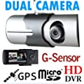 "2.7""140� Dual Lens Dash Board Camera Car DVR Black Box Video Recorder+GPS Logger"