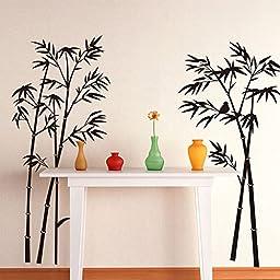 [Free Shipping] Bamboo Wall Sticker Removable Art Home Livingroom Decor // Etiqueta de la pared de bambú del arte de la decoración del salón hogar