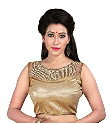Shreeji Designer Ready Made Golden Color Blouses