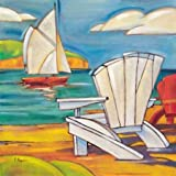Adirondack Chair By Brent, Paul - Fine Art Print On Archival PAPER : 23.5 X 23.5 Inches