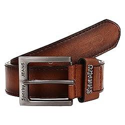 Sparky Brown PU Leather Belt For Men