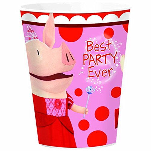 Amscan Dainty Olivia Plastic Cup (1 Piece), Red/Pink, 16 oz