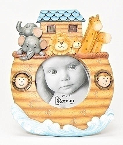 Noah's Ark Childrens Colorful Resin Stone 3x3 Picture Frame