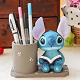 YOURNELO Resin Cartoon Stitch Pen Pencil Holder Desk Organizer Accessories (A)