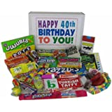 Happy 40th Birthday to You - Classic Retro Candy Gift Box