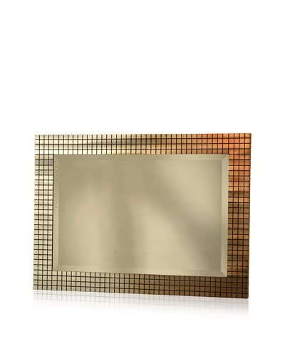 Nova Bronze Grid Wall Mirror, Bronze As You See