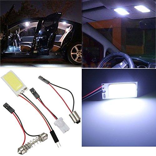 AUDEW-T10-PANNELLO-12w-Lampade-Luci-Posizione-21-COB-LED-Festoon-Dome-Adattatore-T10-BA9S-12V-Bianco