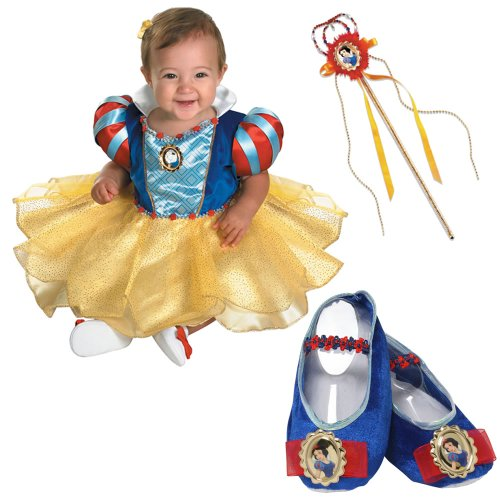Disney Snow White Infant Costume with Slippers and Wand (12-18 Months)